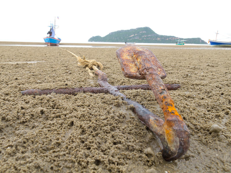 Download An old Anchor stock image. Image of point, thailand, light - 25397773