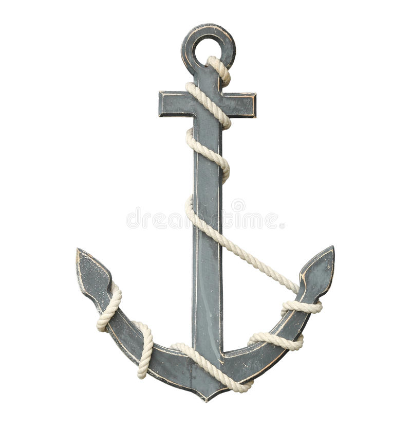 Free Old Anchor Isolated On White Background Stock Images - 41438604