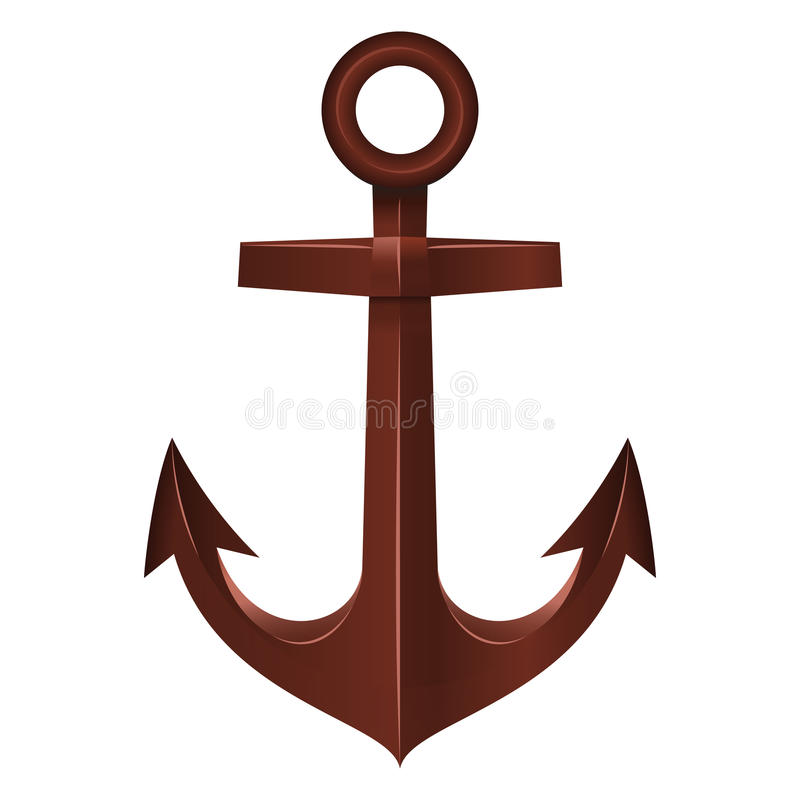 Free Old Anchor On White Background Stock Image - 32248471