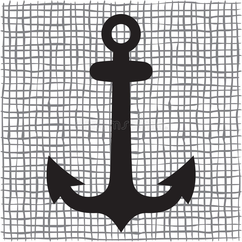 Free Old Anchor Silhouette Royalty Free Stock Photo - 34893155