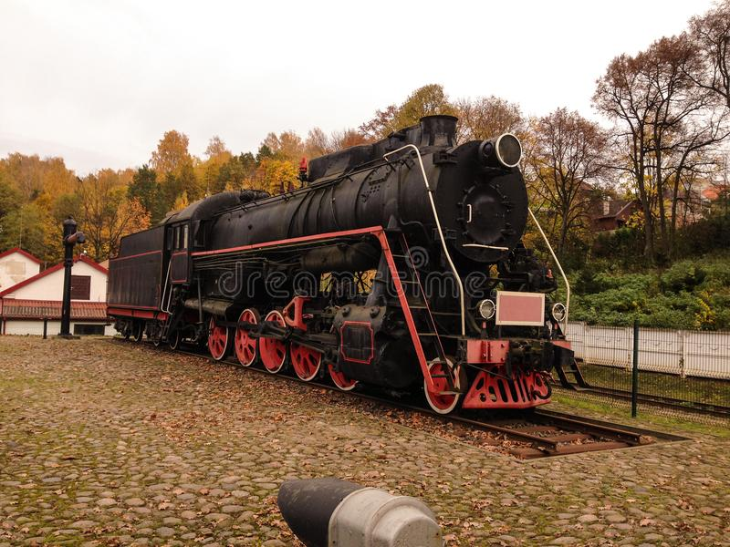 Old school ancient train royalty free stock photography