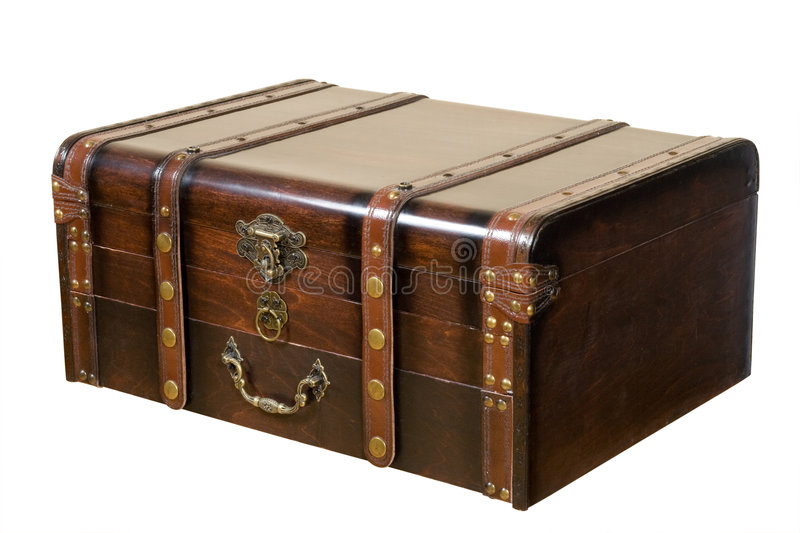 Old ancient chest royalty free stock images