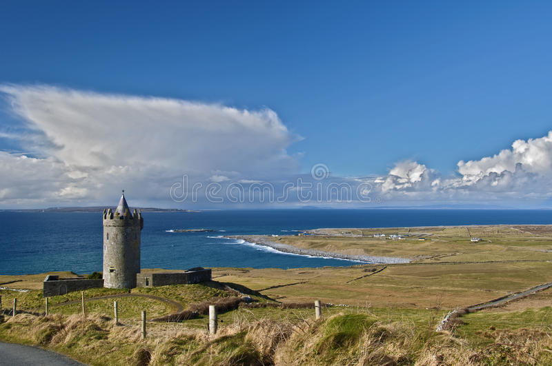 Old Ancient Irish Castle In West Of Ireland Stock Photos