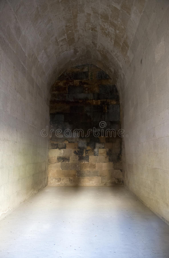 Old Ancient Medieval Castle Stone Dungeon Cell Royalty Free Stock Images