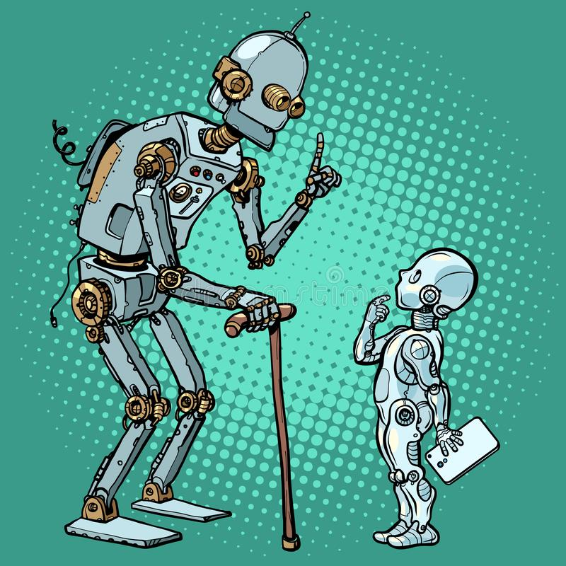 Free Old And New Robot Royalty Free Stock Image - 159146406