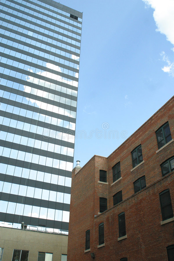 Free Old And Newer Building Royalty Free Stock Image - 55256