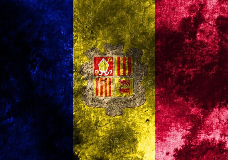 Old Andorra grunge background flag.  vector illustration