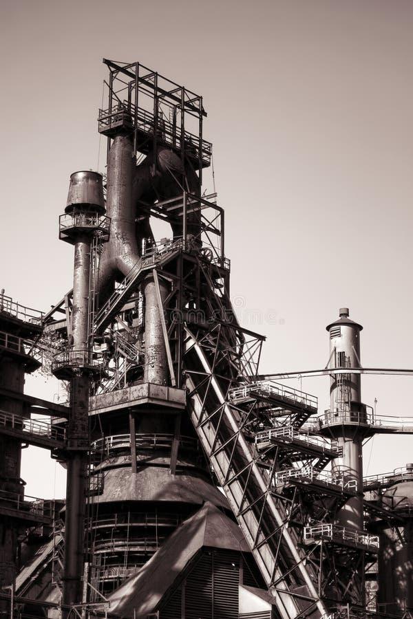Old Antique Abandoned Blast Iron Smelting Furnace royalty free stock images