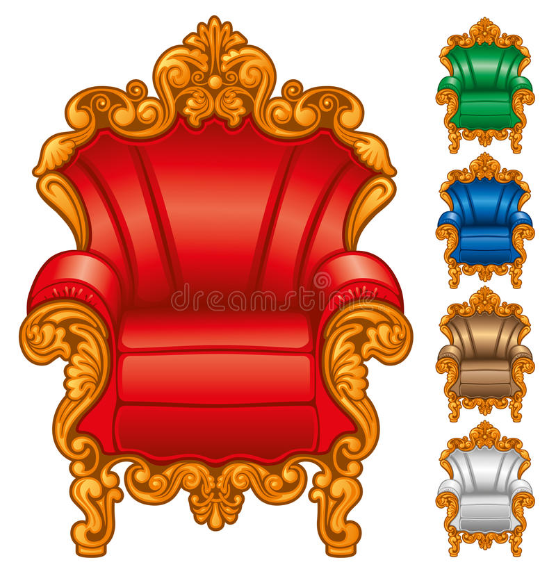 Old Antique Armchair Stock Images