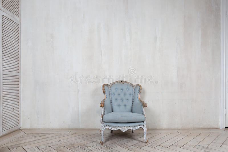 Old antique armchair royalty free stock photo