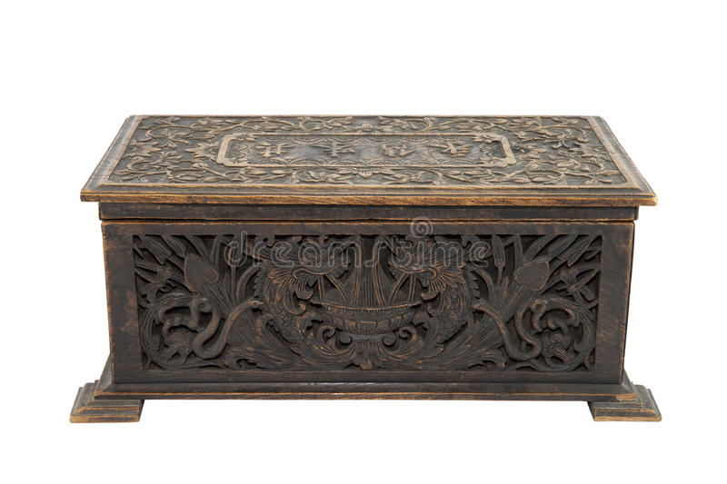 Old antique box royalty free stock images