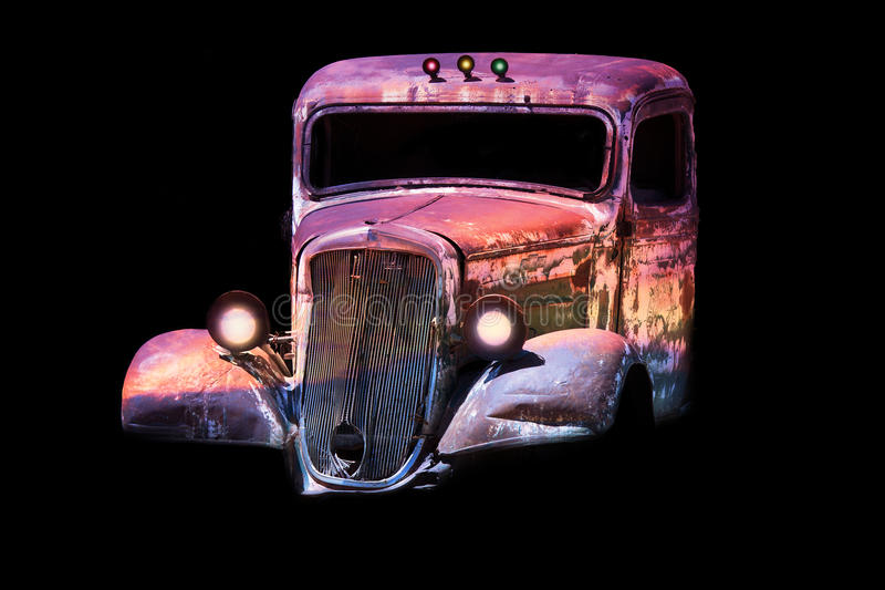 Download Old antique classic car stock photo. Image of rusty, psychedelic - 29508302