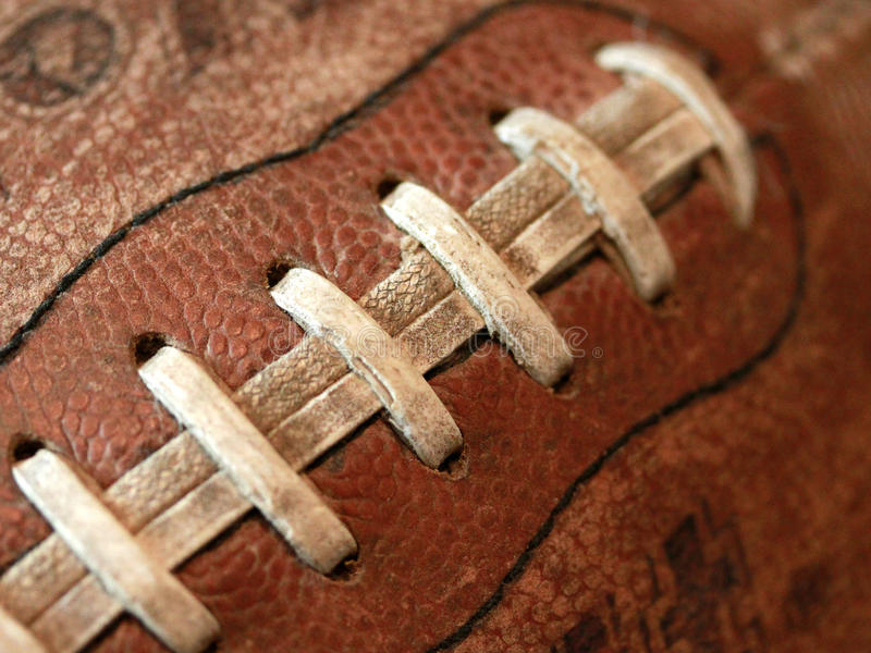 Old Antique Football. Worn old vintage antique football royalty free stock photos