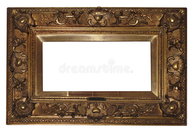 Download Old antique frame stock photo. Image of clipping, carved - 19893452