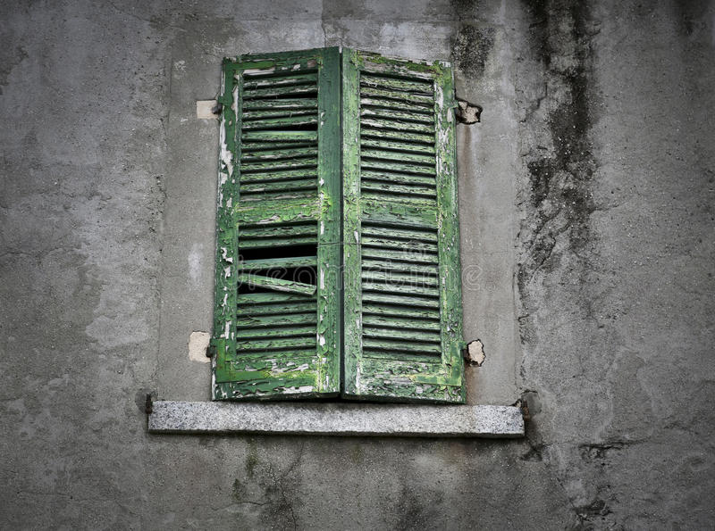 Download Old antique gree window stock image. Image of broken - 39515115