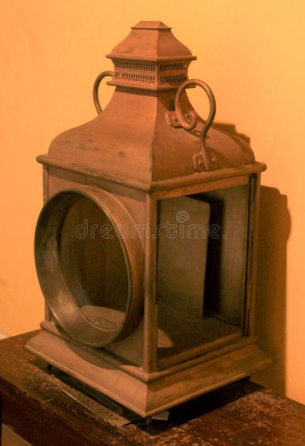 Old antique ornamental lamp in the palace of bangalore. Bangalore Palace, a palace located in Bangalore, Karnataka, India. Construction of a palace building royalty free stock photo