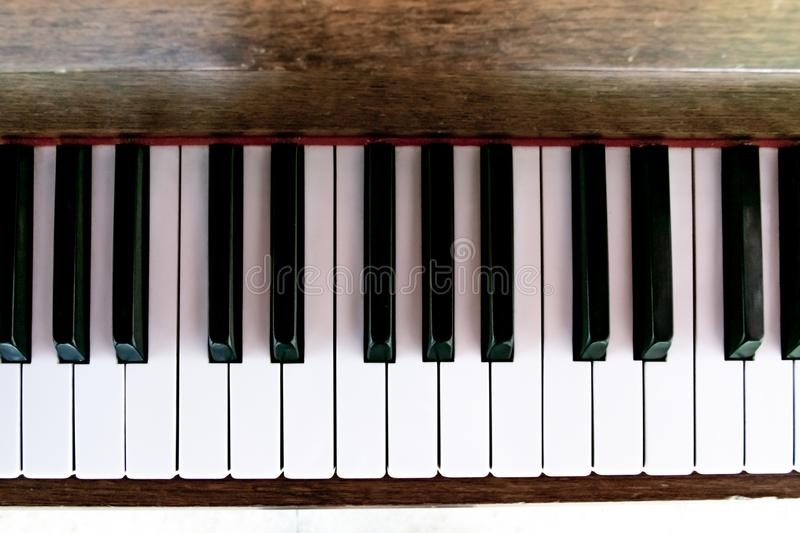 Old antique piano tiles . Photo taken in Central Park Anton von Scudier from Timisoara.  stock images