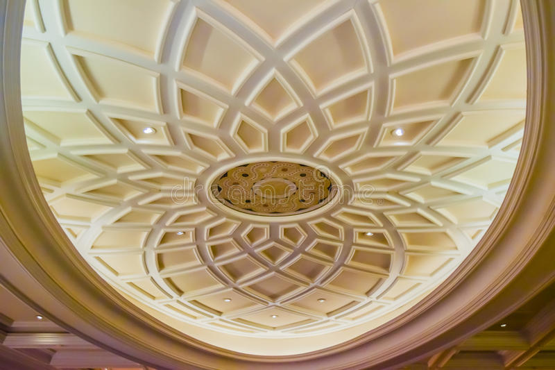 Old antique plaster ceiling royalty free stock photo