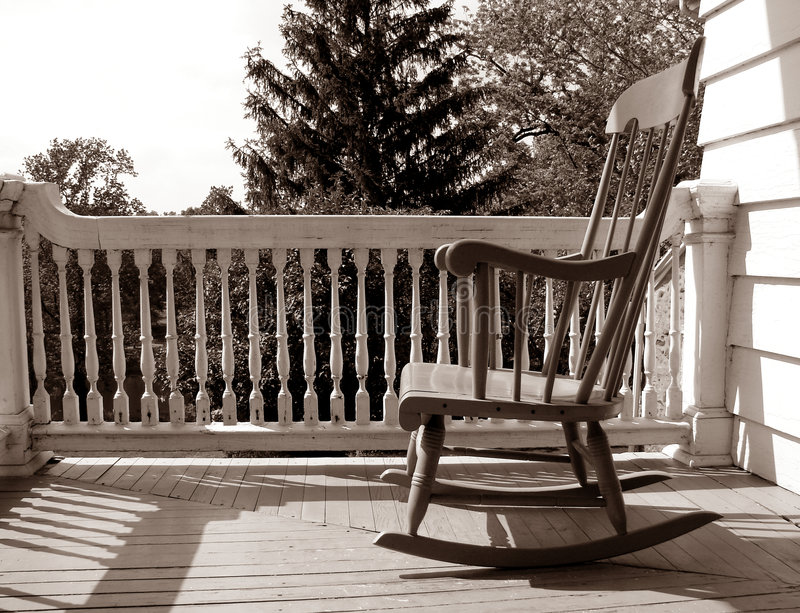 Download Old Antique Rocking Chair On An Old House Porch Stock Photo    Image Of House