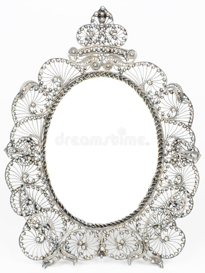 Free Old Antique Silver Frame Royalty Free Stock Image - 17731376