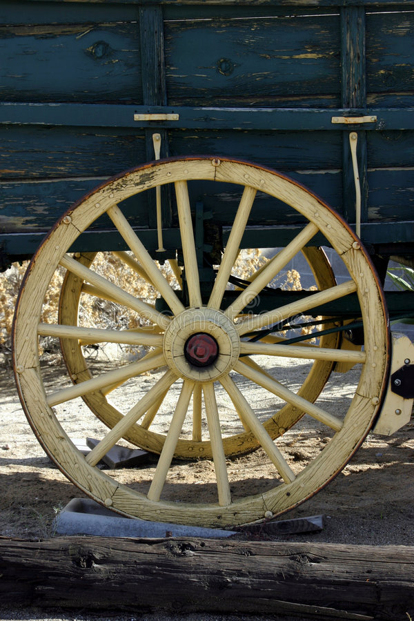 Old Antique Wagon Wheel royalty free stock images