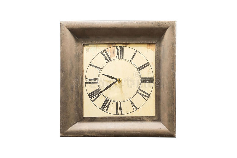 Old Grunge Antique Wall Clock Stock Image Image Of