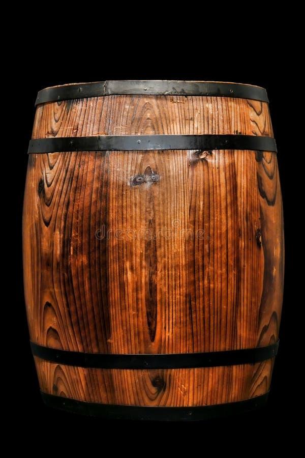 Old Antique Wood Whisky Barrel Wine Keg Isolated royalty free stock photo