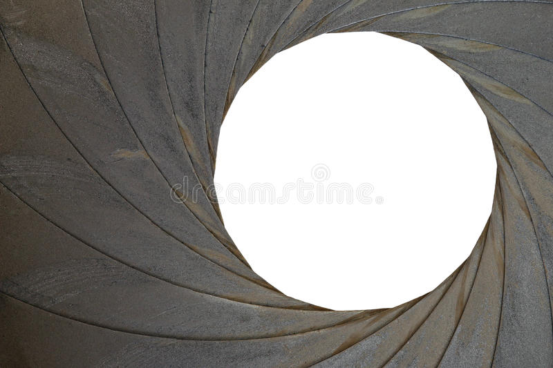 Old Aperture - Exposure Diaphragm. Technical detail of the old aperture - light curtain - exposure diaphragm royalty free stock images