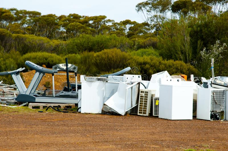 Old Appliances Junkyard. In the Outback royalty free stock photography