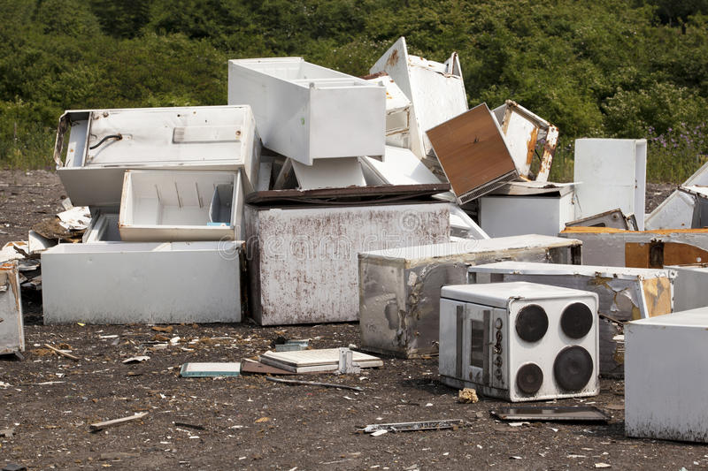 Appliances at the landfill royalty free stock images