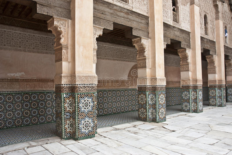 Old Arab Courtyard Archways Stock Photography