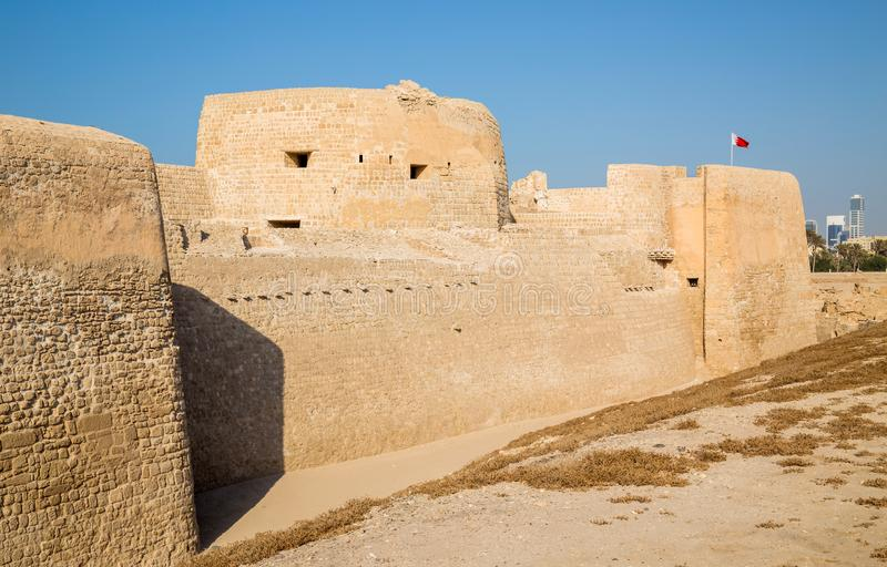 The old Arad Fort. View of the old Arad Fort, in Manama, Muharraq, Bahrain royalty free stock photography