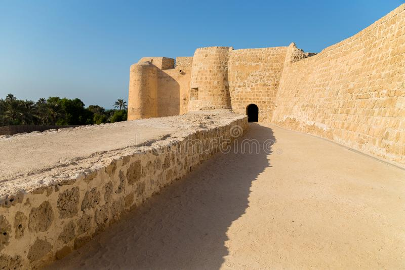 The old Arad Fort. View of the old Arad Fort, in Manama, Muharraq, Bahrain royalty free stock images