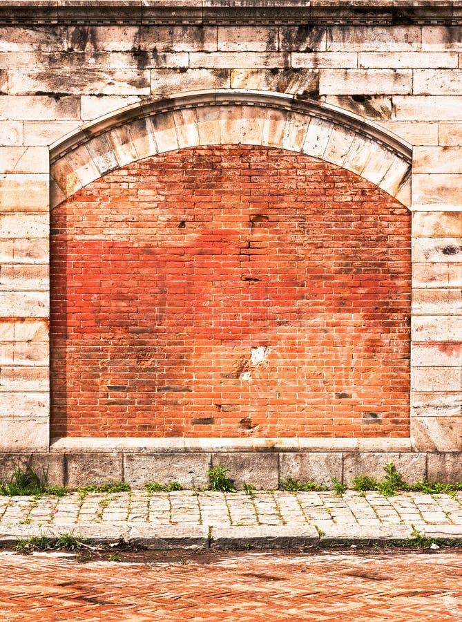 Download Brick wall stock photo. Image of damaged, curve, brick - 29706716