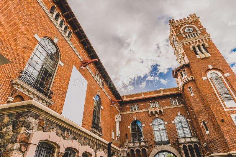 Beautiful old architecture building palace Usina del Arte in La Boca district. Old architecture building palace Usina del Arte in La Boca district stock image