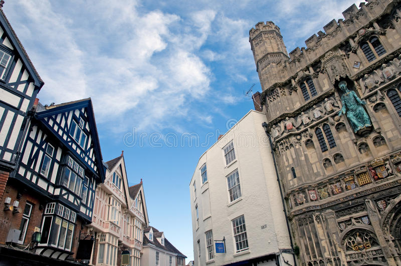 Old architecture of canterbury royalty free stock photos