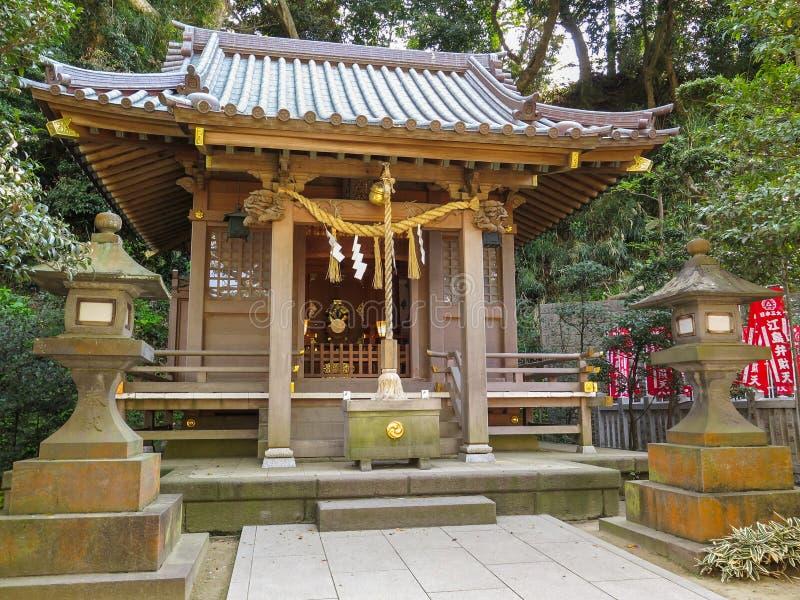 Old architecture of Japanese Shrine royalty free stock image