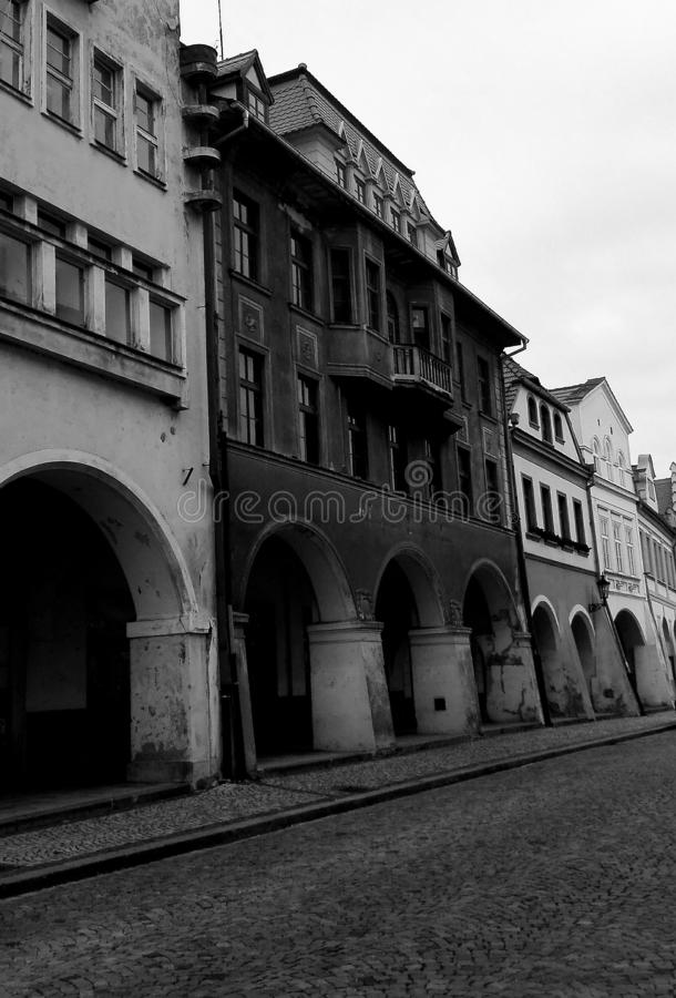 Arcade in old town royalty free stock photos