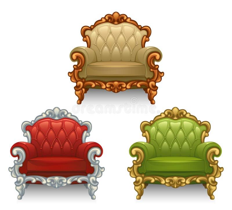 Old armchair vector illustration