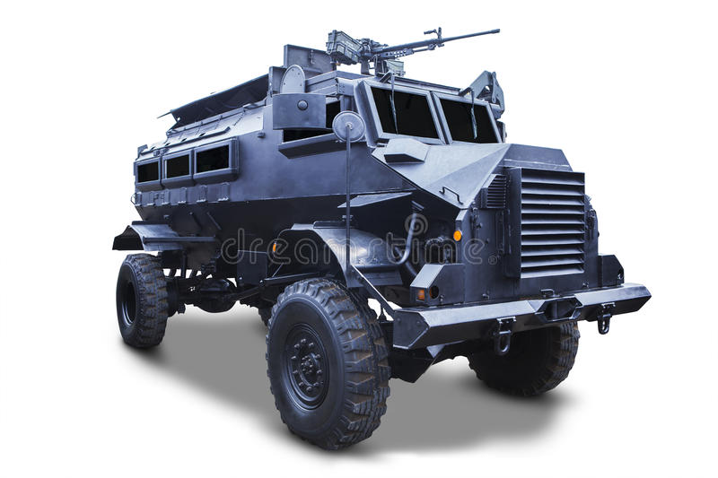 Old armored car stock photography