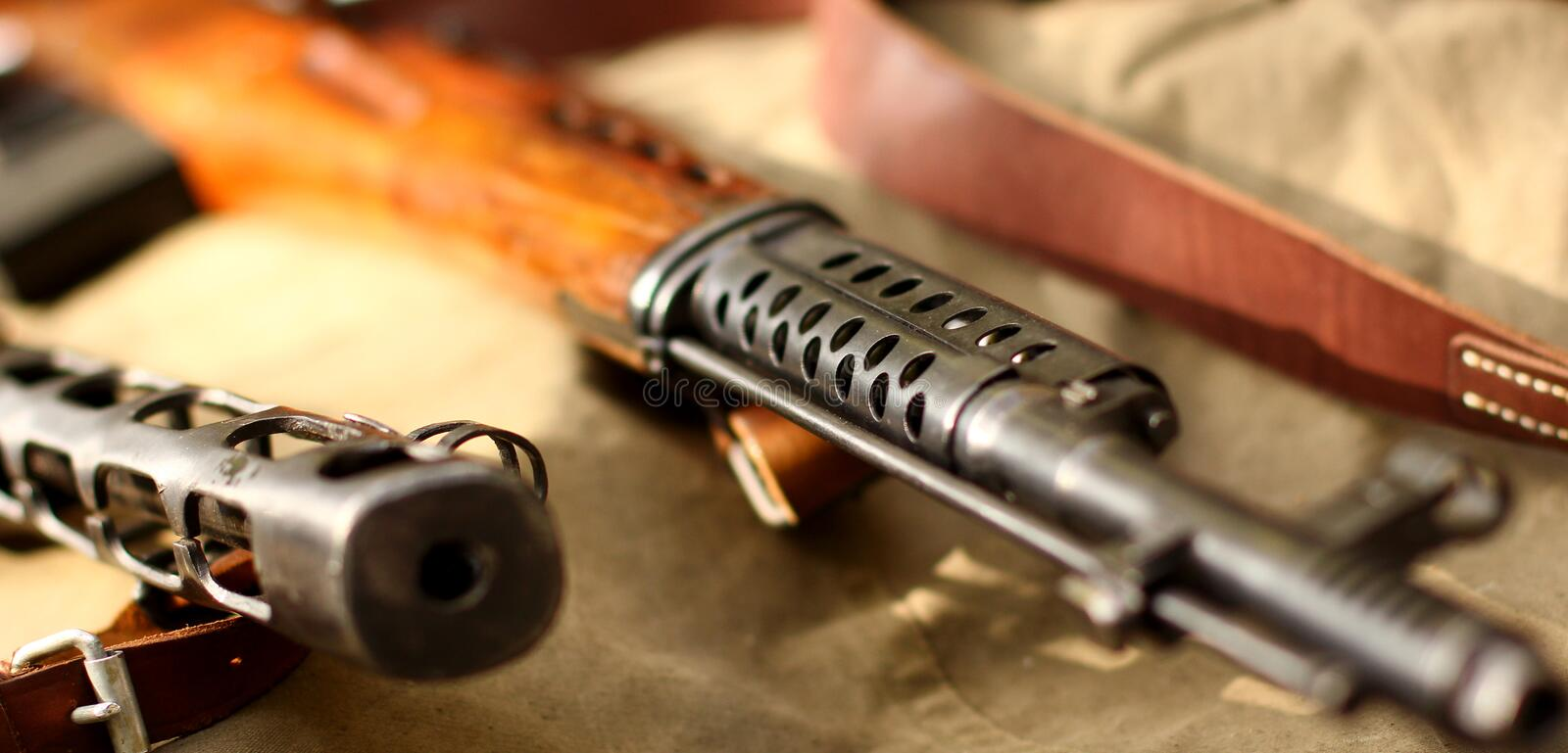 Old army rifle royalty free stock image