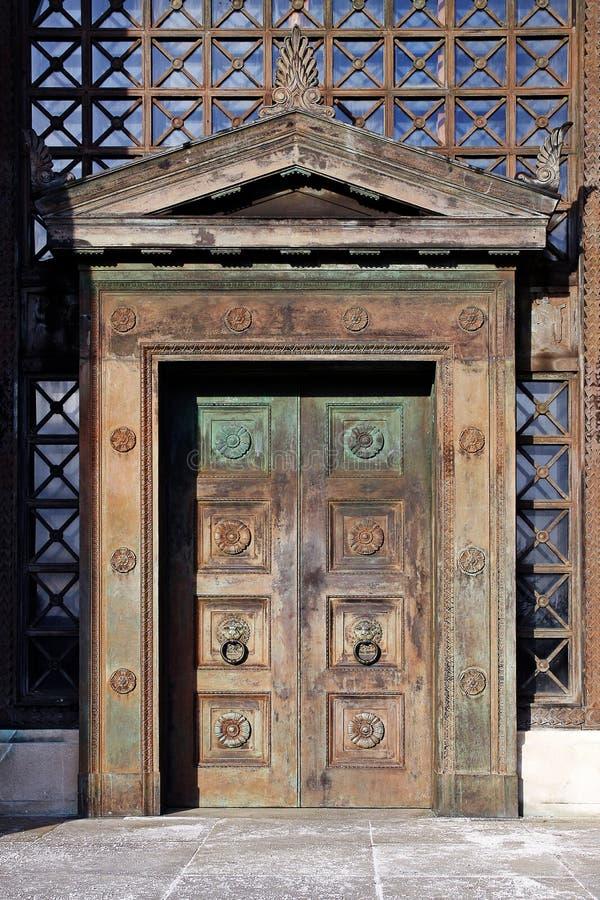 Download Art Deco wooden doors stock photo. Image of access, deco - 30177926