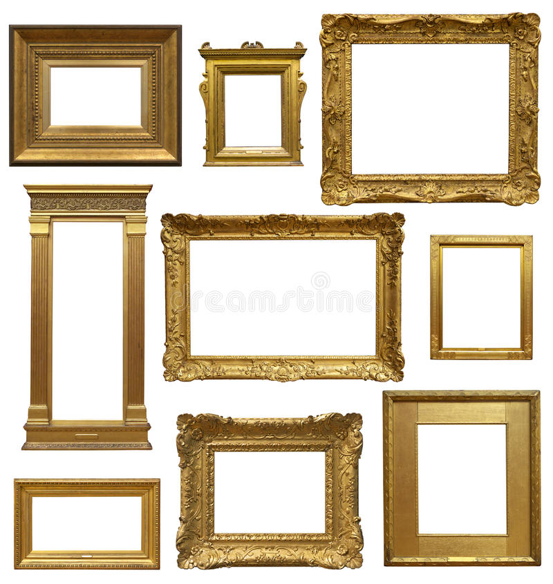 Old Art Gallery Frames royalty free stock photos