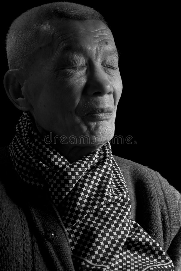 Old Asia Man stock photography