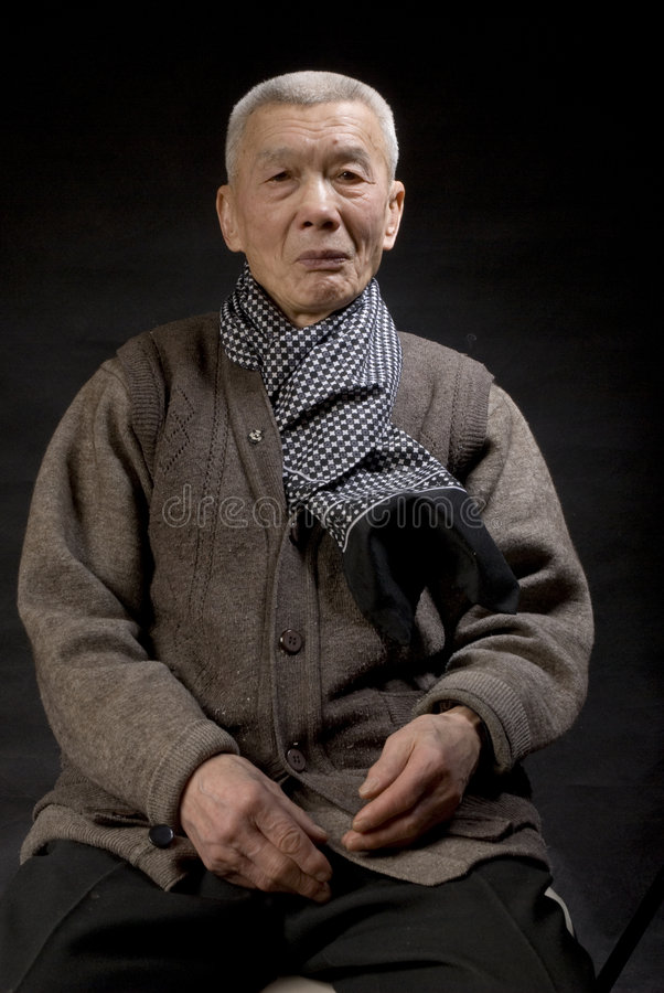 Old Asia Man Royalty Free Stock Photography