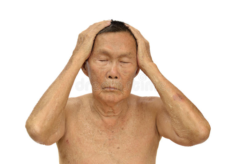 Download An old asian man stock photo. Image of ealdery, hair - 24254628