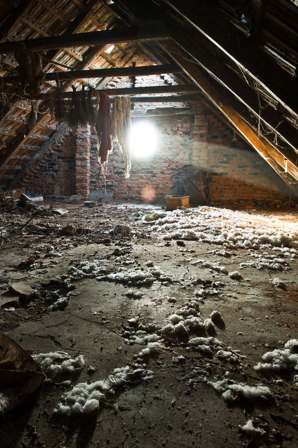 Old attic royalty free stock photo