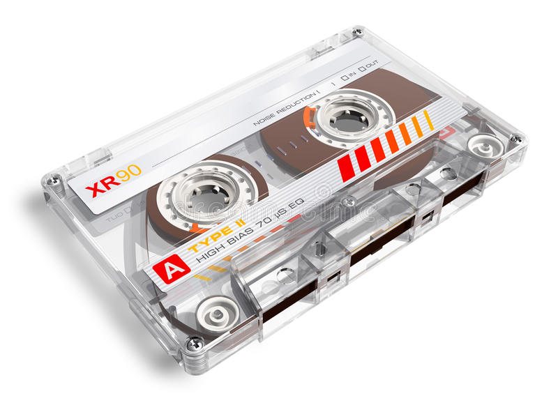 Old audio cassette vector illustration
