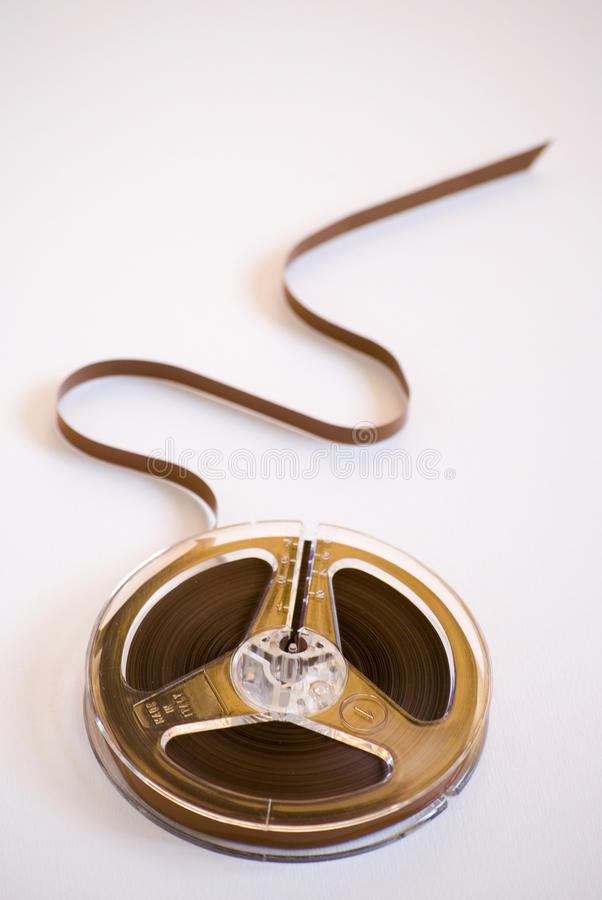 Old audio reel tape. (vintage supply stock photography