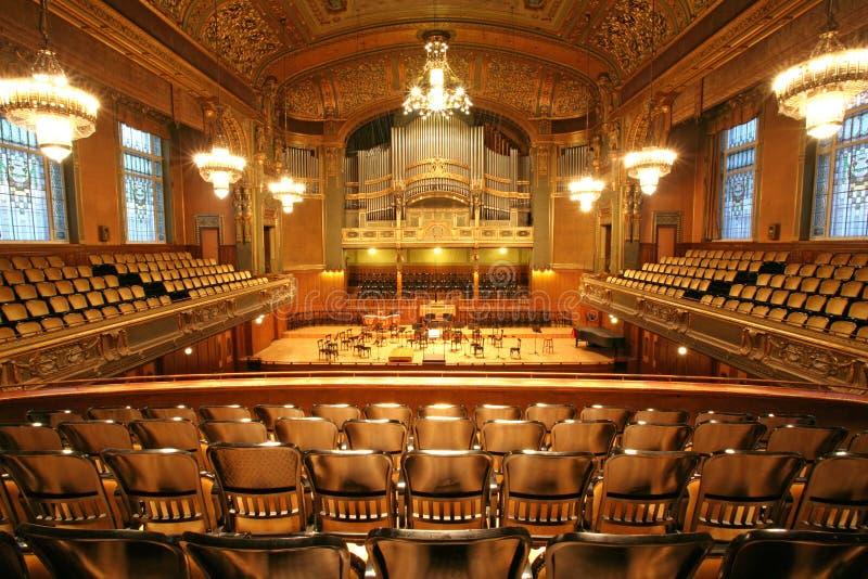 Old auditorium royalty free stock photos
